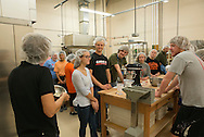 CASNR Ag Economic students and professor Bailey Norwood learn how to make gluten and gluten free bread.