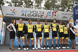 February 14, 2018 - Lagos, Portugal - Team Lotto NL-Jumbo before the 1st stage of the cycling Tour of Algarve between Albufeira and Lagos, on February 14, 2018. (Credit Image: © Str/NurPhoto via ZUMA Press)
