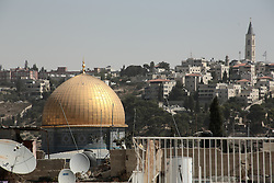 A view of the Dome of the Rock shrine in the old city of Jerusalem. From a series of photos commissioned by  British NGO, Medical Aid for Palestinians (MAP).