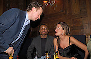 Geordie Greig, Kevin Landgon and Rebecca Loos, Tatler magazine Little Black Book party, Tramp. Jermyn St. 10 November 2004. ONE TIME USE ONLY - DO NOT ARCHIVE  © Copyright Photograph by Dafydd Jones 66 Stockwell Park Rd. London SW9 0DA Tel 020 7733 0108 www.dafjones.com