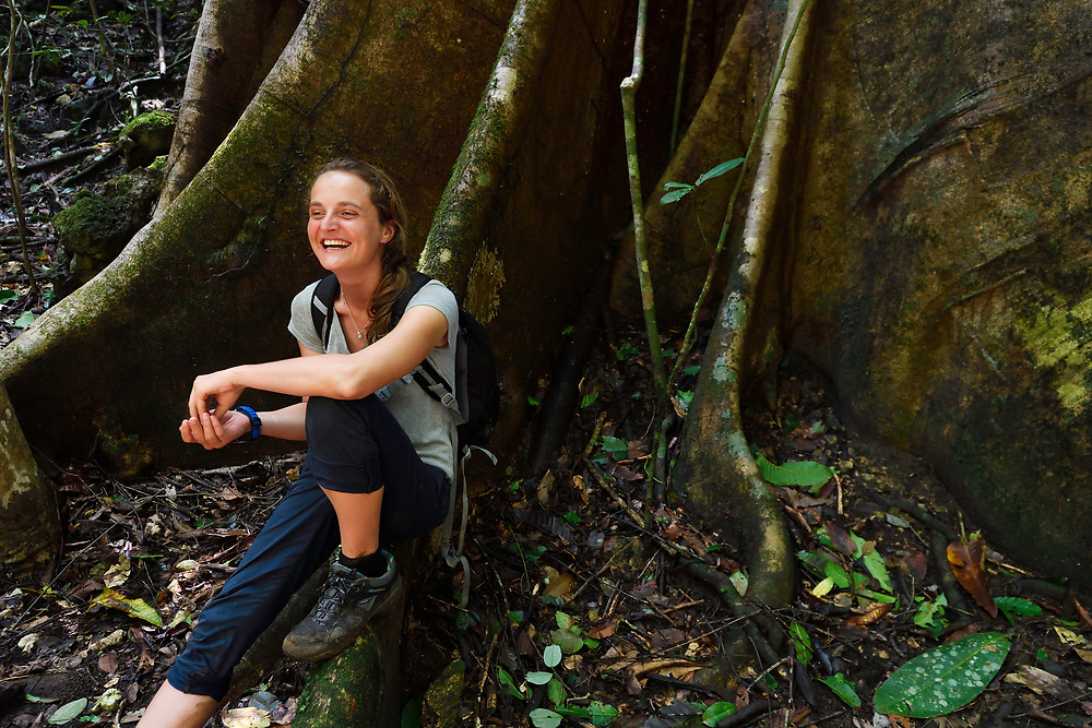 """Marine biologist Emilia d'Avack, Kumawa Peninsula, Mainland New Guinea, Western Papua, Indonesian controlled New Guinea, on the Science et Images """"Expedition Papua, in the footsteps of Wallace"""", by Iris Foundation"""