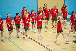 TREFOREST, WALES - Tuesday, February 14, 2011: Wales players during a fitness testing day at the Glamorgan Sports Park. (Pic by David Rawcliffe/Propaganda)