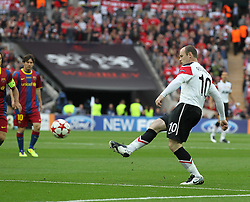 28-05-2011 VOETBAL: CHAMPIONS LEAGUE FINAL FC BARCELONA - MANCHESTER UNITED: LONDON<br /> Wayne Rooney <br /> ***NETHERLANDS ONLY***<br /> ©2011- FotoHoogendoorn.nl/nph/Mitchell Gunn