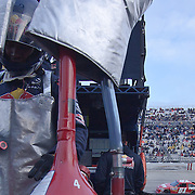 Redbull racing team gas man during the Sprint Cup Series AAA 400 Sunday, Oct. 02, 2011 at Dover International Speedway in Dover Delaware.