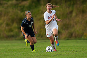 during the girls varsity soccer game between the Burlington Seahorses and the Champlain Valley Union Redhawks at CVU High School on Tuesday afternoon September 8, 2015 in Hinesburg. (BRIAN JENKINS/for the FREE PRESS)
