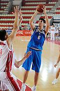 DESCRIZIONE : Teramo Giochi del Mediterraneo 2009 Mediterranean Games Italia Italy Montenegro Preliminary Men<br /> GIOCATORE : Marco Allegretti<br /> SQUADRA : Italia Italy<br /> EVENTO : Teramo Giochi del Mediterraneo 2009<br /> GARA : Italia Italy Montenegro<br /> DATA : 29/06/2009<br /> CATEGORIA : Tiro<br /> SPORT : Pallacanestro<br /> AUTORE : Agenzia Ciamillo-Castoria/G.Ciamillo<br /> Galleria : Giochi del Mediterraneo 2009<br /> Fotonotizia : Teramo Giochi del Mediterraneo 2009 Mediterranean Games Italia Italy Montenegro Preliminary Men<br /> Predefinita :