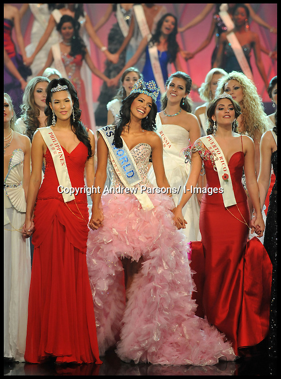 Miss Venezuela Ivian Lunasol Sarcos Colmenares wins  the 2011 Miss World final at Earls Court London, Sunday November 6, 2011. Photo By Andrew Parsons/ i-Images