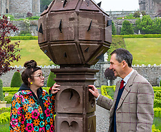 Scotland's oldest obelisk sundial resinstated, Drummond Castle, 24 June 2019
