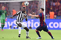 Paul Pogba, Lionel Messi <br /> Berlino 06-06-2015 OlympiaStadion  <br /> Juventus Barcelona - Juventus Barcellona <br /> Finale Final Champions League 2014/2015 <br /> Foto Matteo Gribaudi/Image Sport/Insidefoto