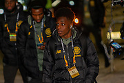 Jeremie Frimpong of Celtic FC arrives at Parkhead ahead of  the Europa League match between Celtic and FC Copenhagen at Celtic Park, Glasgow, Scotland on 27 February 2020.
