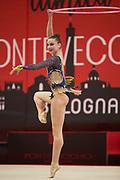 Elizaveta Lugovskikh from the Falciai team during the Italian Rhythmic Gymnastics Championship in Bologna, 9 February 2019.