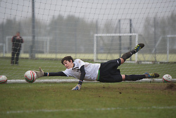 CARDIFF, WALES - Thursday, March 15, 2012: Wales U16's Joseph Massaro (Cardiff City FC & Corpus Christi High School) during a training session at the Glamorgan Sports Park. (Pic by David Rawcliffe/Propaganda)