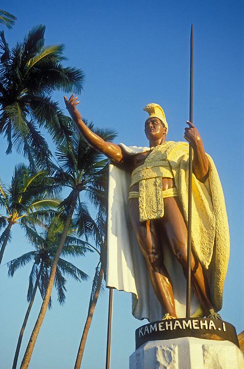 King Kamehameha I Statue (this is the original - the statue in Honolulu is a duplicate); Kapa'au, North Kohala, Hawaii.
