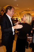 Donna Air and Damian Aspinall. H&M Flagship Store launch. at 17-21 Brompton Road, Knightsbridge. London. SW1. 23  March 2005. ONE TIME USE ONLY - DO NOT ARCHIVE  © Copyright Photograph by Dafydd Jones 66 Stockwell Park Rd. London SW9 0DA Tel 020 7733 0108 www.dafjones.com