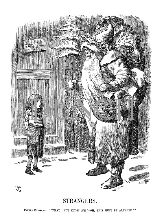 "Strangers. Father Christmas. ""What! Not know me! - Oh, this must be altered!"""