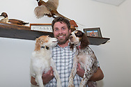 Anthony Hauck and his Field Cocker Spaniels at the Pheasants Forever Offices in St. Paul, Minnesota