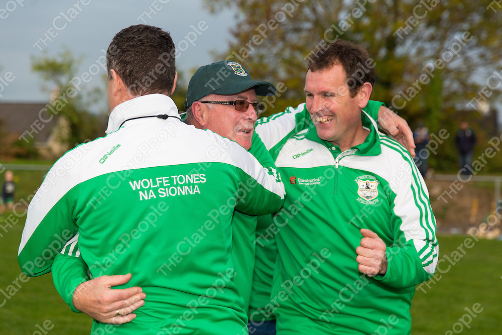 Wolfe Tones Management Celebreate at the final whistle