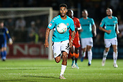 Forest Green Rovers Reuben Reid(26) chases down the ball during the 2nd round of the Carabao EFL Cup match between Wycombe Wanderers and Forest Green Rovers at Adams Park, High Wycombe, England on 28 August 2018.