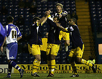 Photo: Paul Thomas.<br /> Bury v Weymouth. The FA Cup. 21/11/2006.<br /> <br /> Simon Downer (C) and Weymouth celebrate his goal.