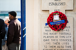 Remembrance Service outside the Memorial Gates at Bristol Rovers' Memorial Stadium - Rogan/JMP - 10/11/2017 - FOOTBALL - Memorial Stadium - Bristol, England.