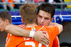 THE HAGUE - Rabobank Hockey World Cup 2014 - 2014-06-03 - MEN - The Netherlands - Korea - Robbert KEMPERMAN en Mink van der Weerden
