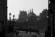 Paris. Quai de l'horloge by the Seine river /  Quai de l'Horloge