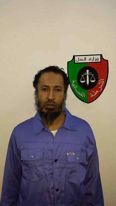 61174875<br /> Handout photograph shows Saadi Gaddafi, the son of Muammar Gaddafi, in the prison of Tripoli, Libya, on March 6, 2014. Niger has extradited Muammar Gaddafi s son Saadi Gaddafi, who fled as his father s regime crumbled in 2011 and was under house arrest in the desert West African nation ever since. Saadi Gaddafi arrived early on Thursday March 6, 2014 at the Tripoli airport and was transferred to a prison in the capital, Thursday, 6th March 2014. Picture by  imago / i-Images<br /> UK ONLY