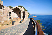 Ruins of church,  Vila Vella enceinte, Tossa De Mar, Costa Brava, Spain