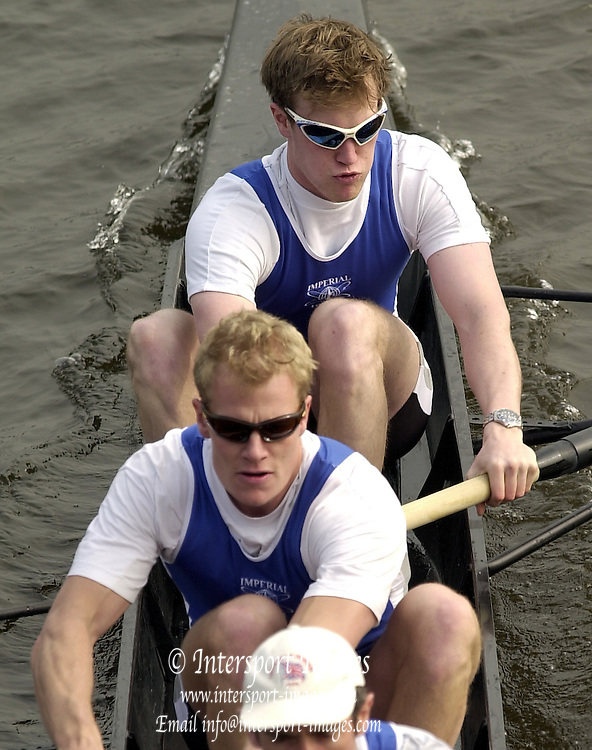 2003 - Rowing - Head of the River Race, Championship Course, River Thames, London. Shot from Chiswick Bridge. IC 1 - Andrew Dunn bow and Rick Dunn No.2. [Mandatory Credit; Peter Spurrier  / Intersport Images]