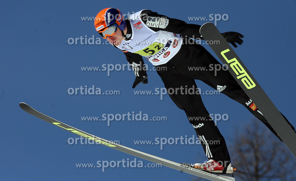Jurij Tepes during first series of team event of FIS Ski jumping World Cup finals in Planica, Slovenia.  Team event of FIS Ski jumping World cup were held in Planica, Slovenia, on K215 ski flying hill on March 15, 2008. (Photo by Vid Ponikvar / Sportal Images)./ Sportida)
