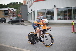 Chantal Blaak (NED) of Boels-Dolmans Cycling Team prologue of the Ladies Tour of Norway - a 3.4 km time trial, starting and finishing in Halden on August 17, 2017, in Ostfold, Norway. (Photo by Balint Hamvas/Velofocus.com)