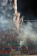 06.02.2003, Estadio de los Defensores del Chaco, Asunci--n, Paraguay..Copa Libertadores de Am?rica 2003, Group 2..Cerro Porte-o (Paraguay) v Universidad Cat--lica (Chile)..Cerro Porte-o fans shoot fireworks before the kick off.©Juha Tamminen