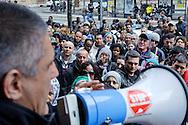 Roma, 25 Marzo 2013.Parte lo Tsunami tour per il diritto all' abitare. .I movimenti di lotta per la casa manifestano per le problematiche legate ai residence dell' emergenza abitativa davanti al Dipartimento Promozione dei Servizi Sociali e della Salute