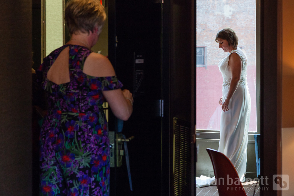 Helen prepares at the Roxy Hotel. (Photographed as second shooter for Steven Rosen Photography)