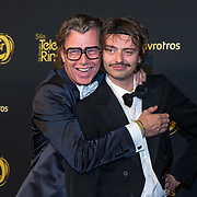 NLD/Amsterdam/20191009 - Uitreiking Gouden Televizier Ring Gala 2019, Stefano Keizers en .........