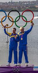GOLD medal Star class<br /> Loof Fredrik, Salminen Max, (SWE, Star)<br /> <br /> <br /> 2012 Olympic Games <br /> London / Weymouth