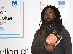 Royal Festival Hall, London, October 12th 2015. Man Booker Prize for Fiction Finalists gather at the Royal Festival Hall on the eve of the £50,000 prize winner's announcement. PICTURED: Jamaican writer Marlon James, author of A Brief History of Seven Killings published by Oneworld Publications.
