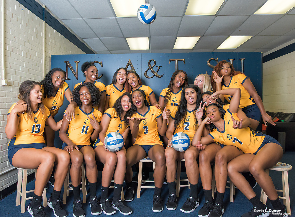 2017 A&T Volleyball Team Pictures \ www.ncataggies.com - Photo by: Kevin L. Dorsey