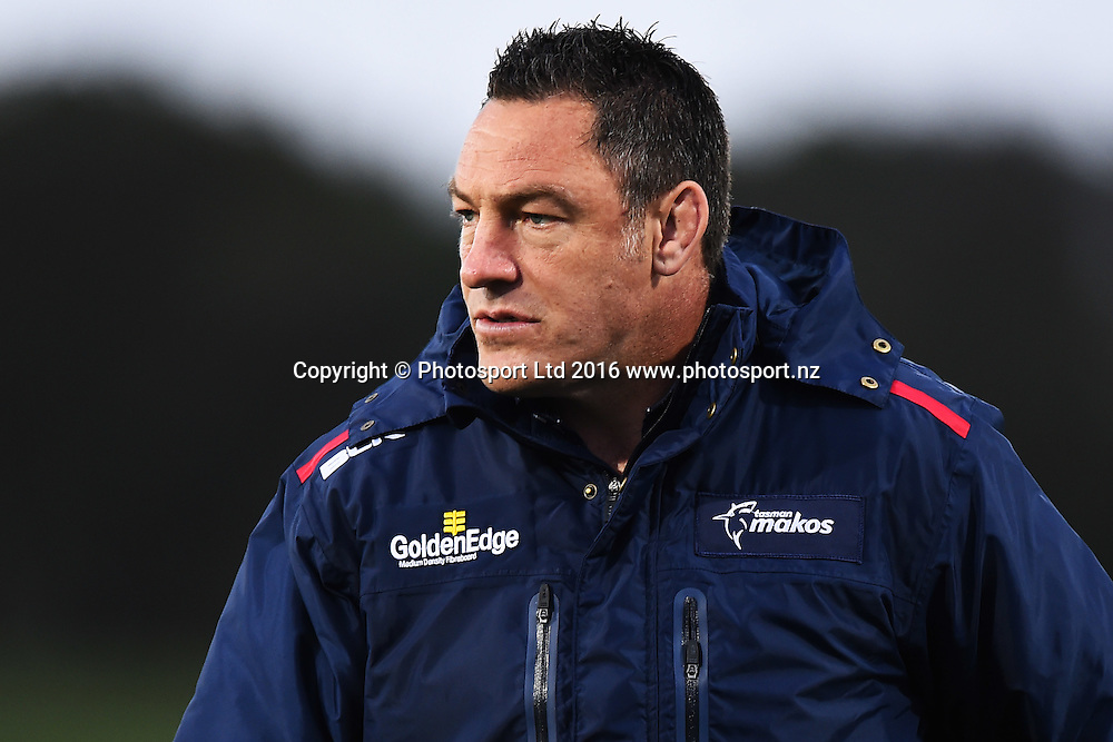 Tasman assistant coach Mark Hammett during the the Mitre 10 Cup match Tasman v Northland at Trafalgar Park, Nelson, New Zealand. Friday 16 September 2016. ©Copyright Photo: Chris Symes / www.photosport.nz