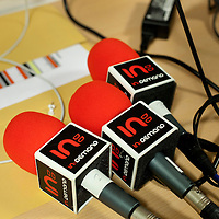 Picture shows : In Demand mics -detail..Clyde 1 Live.SECC, Glasgow..30th September 2011.Picture  © Drew Farrell Tel 07721-735041. .Note to Editors:  This image is free to be used editorially in the promotion of the Clyde 1 Live. Without prejudice ALL other licences without prior consent will be deemed a breach of copyright under the Copyright, Designs and Patents Act 1988.