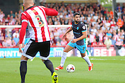 Sheffield Wednesday Forward Marco Matias on the ball during the Sky Bet Championship match between Brentford and Sheffield Wednesday at Griffin Park, London, England on 26 September 2015. Photo by Phil Duncan.
