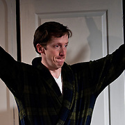 Andrew Fling as Harry, in a scene from the Harbor Light Stage production of Love Song, a play by John Kolvebnbach, directed by Kent Stephens at The Music Hall Loft in Portsmouth, NH, May, 2011