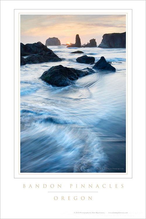Bandon Pinnacles Oregon Poster #48481