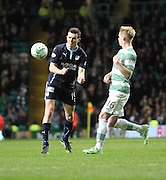 Dundee's Paul McGinn and Celtic's Gary Mackay-Steven -  Celtic v Dundee - SPFL Premiership at Celtic Park<br /> <br /> <br />  - © David Young - www.davidyoungphoto.co.uk - email: davidyoungphoto@gmail.com