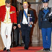 NLD/Amsterdam/20150624- Galadiner voor het Corps Diplomatique Koninklijk Paleis Amsterdam, vertrek Mr.Pieter van Vollenhoven