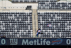 Oct 16, 2011; East Rutherford, NJ, USA; General view of fans and empty seats at MetLife Stadium before the game between the New York Giants and the Buffalo Bills. Mandatory Credit: Jason O. Watson-US PRESSWIRE