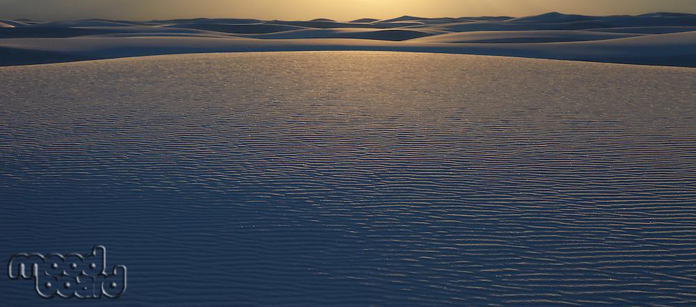 Sand dunes in desert USA