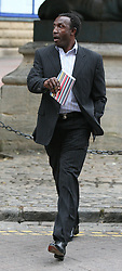 © licensed to London News Pictures.  21/07/11. Aylesbury, UK. Linford Christie arriving at Aylesbury Crown Court today (21/07/2011) where the former British sprinter is standing trial accused of dangerous driving in an Audi A8 on May 8th 2010. The jury are currently deliberating a verdict.  Photo credit: Rob Bourne/LNP