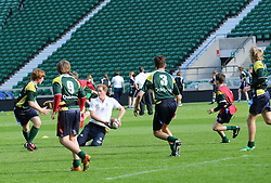 Prince Harry at a Rugby Football Union schools coaching session at Twickenham Stadium in London, United Kingdom, Thursday, 17th October 2013. Picture by Stephen Lock / i-Images