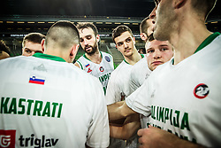 Players of Petrol Olimpija look dejected after the basketball match between KK Petrol Olimpija and Promitheas Patras in Round #9 of FIBA Basketball Champions League 2018/19, on December 18, 2018 in Arena Stozice, Ljubljana, Slovenia. Photo by Vid Ponikvar / Sportida